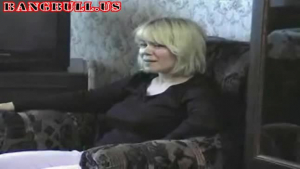 Busty blonde mom nailed by her teen son