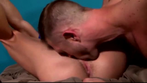 Super hot blonde loves the way her tattooed neighbor is being a real stud in his bedroom