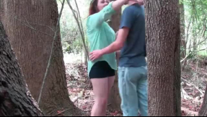 Sweet MILF babe drilled in the nature