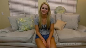 Blonde teen cutie and boy tag teaming