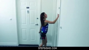 What a pigtailed teen brunette loves taking